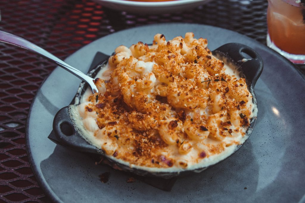 Baked Mac & Cheese at Back Forty Restaurant