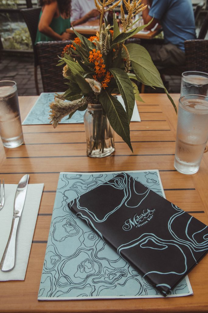 Table Setting at Matunuck Oyster Bar